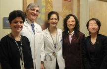 Dr Chen (far right) and Dr Liu (second from right) with American colleagues in Boston. Dr Chen (far right) and Dr Liu (second from right) with American colleagues in Boston.