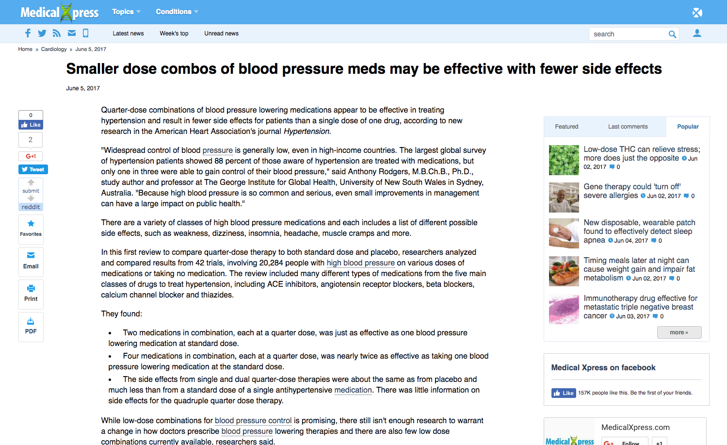 Smaller Dose Combos Of Blood Pressure Meds May Be